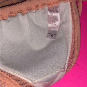 Victoria's Secret Swim - Victoria's Secret Peach Triangle Bikini Top R17